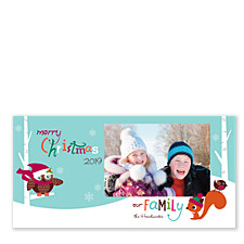 Forest Friends Christmas Photo Cards