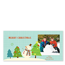 Smiling Snowman Christmas Photo Cards