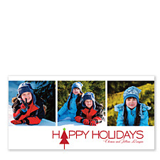 Simple Happy Holidays Photo Cards