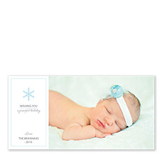 Peaceful Snowflake Christmas Photo Cards