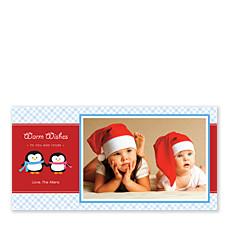 Penguins Photo Christmas Cards