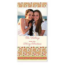 Paisley Vertical Christmas Photo Cards