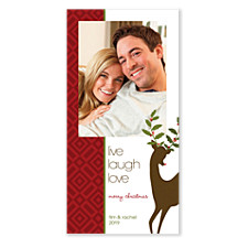 Live Laugh Love Vertical Holiday Cards