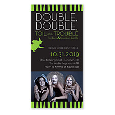 Toil and Trouble Halloween Party Invitations