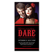 Dare Halloween Photo Invitation Cards