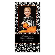 Skull and Crossbones Halloween Photo Cards