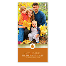 Apple Icon Happy Thanksgiving Photo Cards