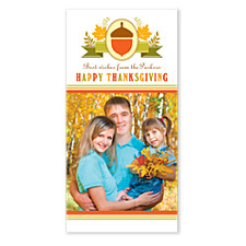 Acorn Banner Thanksgiving Photo Cards