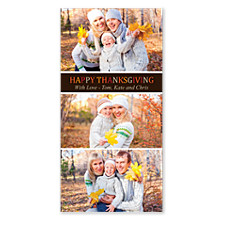 Color My World Happy Thanksgiving Photo Cards