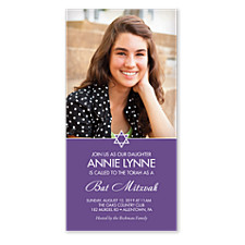 Annie Photo Bat Mitzvah Invitations