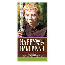 Candle Bright Hanukkah Photo Cards