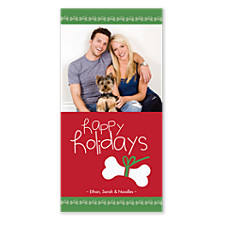 Doggone Happy Holiday Christmas Photo Cards