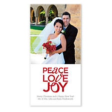 Peace, Love & Joy Christmas Photo Cards
