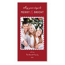 Merry Stripe Photo Christmas Cards