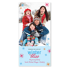 Winter Bliss Holiday Photo Cards