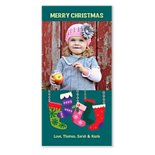Hanging Stockings Christmas Photo Cards