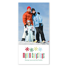 Merry Stars Christmas Photo Cards
