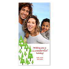 Swiss Trees Holiday Photo Cards