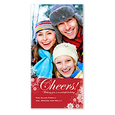 Cheery Snowflakes Christmas Photo Cards