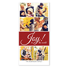 Joy to the World Collage Christmas Photo Cards