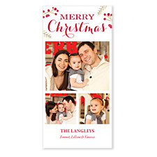 Berry Merry Christmas Photo Cards