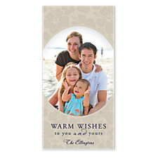 Warm Wishes Christmas Photo Cards
