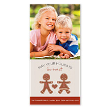 Gingerbread Vertical Photo Cards