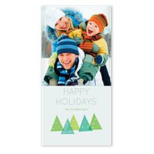 Modern Tree Christmas Photo Cards