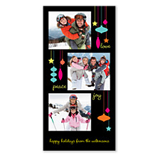 Retro Ornaments Holiday Photo Cards