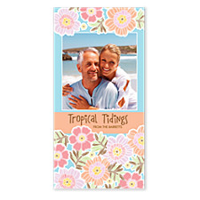 Tropical Tidings Photo Christmas Cards