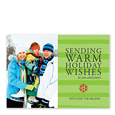Sending Warm Wishes Holiday Photo Cards