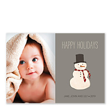 Jolly Snowman Photo Christmas Cards
