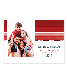 Shades of Red Christmas Photo Cards