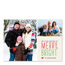 Rosy Wishes Christmas Photo Cards