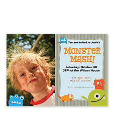 Monster Mash Horizontal Photo Kid Party Invitations
