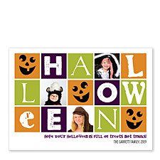 Treats Not Tricks Halloween Photo Cards