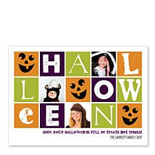 Treats Not Tricks Halloween Photo Cards