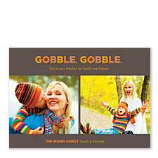 Gobble Gobble Thanksgiving Photo Cards
