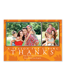 Seasons Orange Thanksgiving Photo Cards