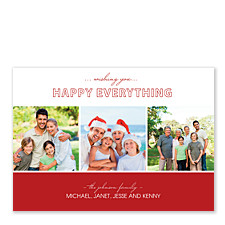 Good Tidings Red Christmas Photo Cards