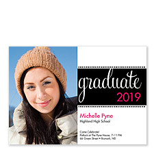 Seniors Rock Graduation Party Photo Invitations