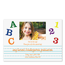 ABC, 123 Graduation Party Invitations