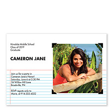 Stay in Line Photo Graduation Party Invitations