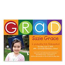 Child's Play Graduation Party Photo Invitations