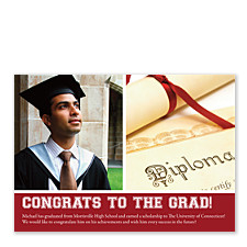 Epiphany Harvard Red Graduation Announcements