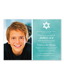 Jared Photo Bar Mitzvah Invitations