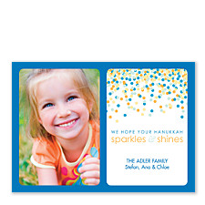 Sparkle Hanukkah Photo Cards