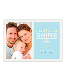 Shine this Hanukkah Hanukkah Photo Cards