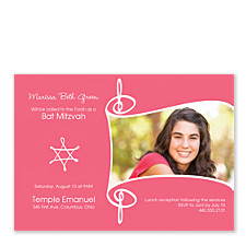 Bat Mitzvah Photo Bat Mitzvah Invitations