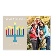 Hanukkiyah Hanukkah Cards